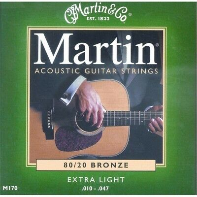 Martin M170 80/20 Bronze Package Strings for acoustic guitar scaling 10-47 Extr
