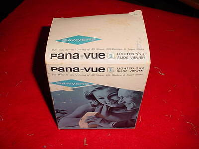 "Vintage Pana-Vue 1 Lighted 2"" x 2"" Slide Viewer With Box NEW OLD ST. SAWYER'S"