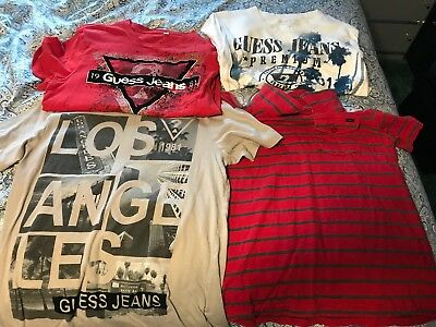 Lot of 4 Guess Men's Shirts SMALL