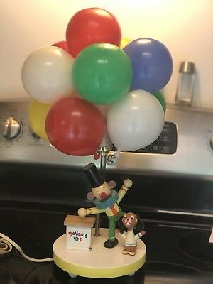 Vintage Dolly Toy Clown Balloon Lamp