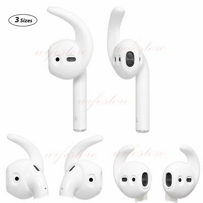 3 Pairs Soft EarHooks Cover for Apple AirPods Workout Accessory Ear Tips Earpads