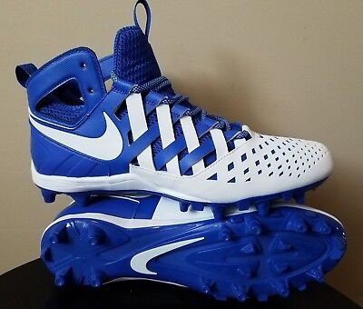 Mens Nike Huarache Lacrosse Cleats Blue White Size 11.5 Waffle Design Brand New