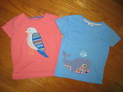 Mini Boden 5-6 Bird and Whale Tops * READ