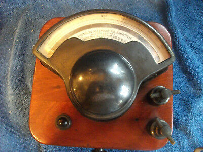 Antique General Electric Thomson Ammeter Type P  Pat. 1895-1901-1909