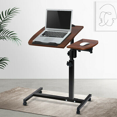 Portable Height Adjustable Mobile Laptop Desk PC Study Stand Bedside Sofa Table