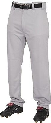 (Medium, Blue/Grey) - Rawlings Youth Semi-Relaxed Pants. Shipping is Free