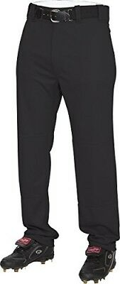 (X-Large, Black) - Rawlings Youth Semi-Relaxed Pants. Free Delivery