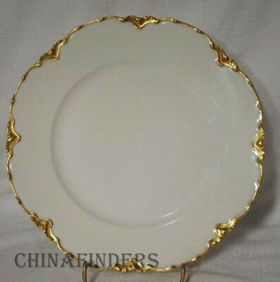 HAVILAND china Limoges France RANSON GOLD Luncheon Plate - 8-5/8""