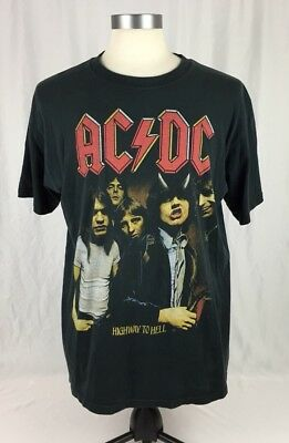 AC/DC Vintage T Shirt 90's Highway To Hell HARD ROCK METAL Band LP Cover Large