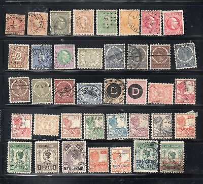 Netherlands Dutch Indies Indonesia  Stamps Canceled & Mh    Lot 24065