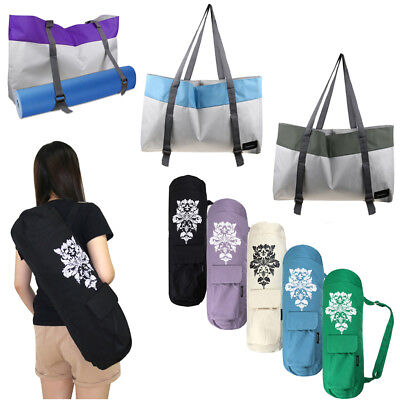 100% Cotton Canvas Yoga Bag Pilates Fitness Carry Duffle Mat Carrier Straps