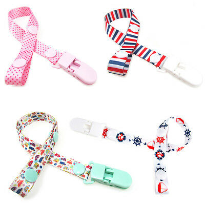 4pcs Baby Kids Dummy Pacifier Clip Soother Nipple Leash Strap Chain Clip Holder