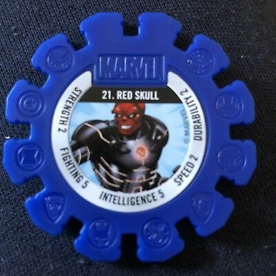 Woolworths Marvel Heroes Tazo Disc #21 Red Skull