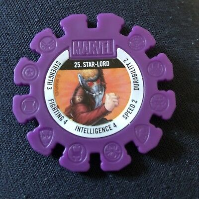 Woolworths Marvel Heroes Tazo Disc #25 Star Lord