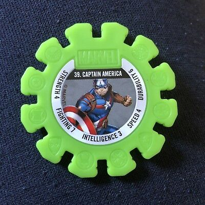 Woolworths Marvel Heroes Tazo Disc #39 Captain America