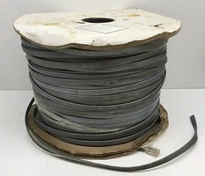(1000ft) 8-Conductor Flat Telephone/Modem Satin Line Wire Cable 26AWG DC-W8-1000