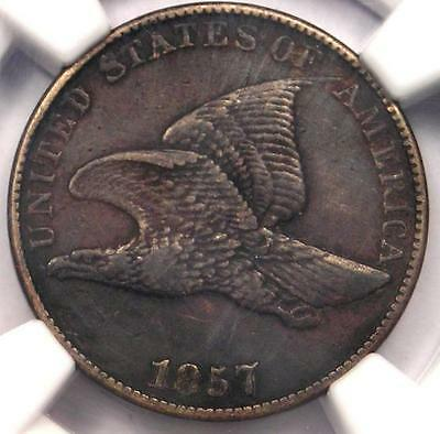 1857 Flying Eagle Cent 1C - NGC XF Details (EF) - Rare Early Certified Penny