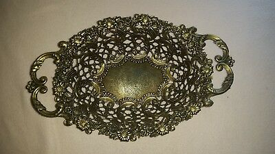 Brass Fruit Bowl with Daisy Pattern