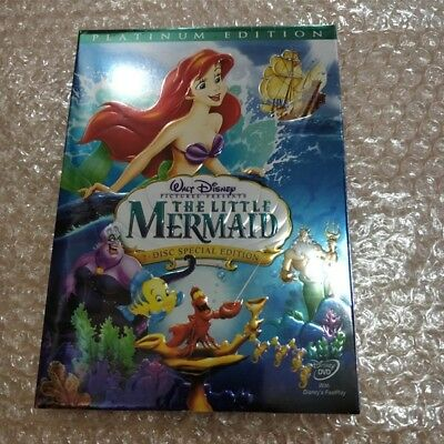 NEW! Disney Little Mermaid (DVD, 2006, Two-Disc, Platinum Edition) Free Shipping