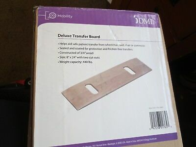 """Transfer Board Transport Patient Wheelchair Bed Car Medical Mobility Aid 8"""" x 24"""