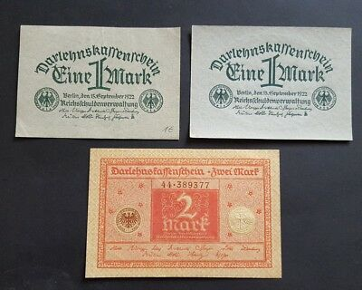 Germany 1 & 2 marks 1920-22