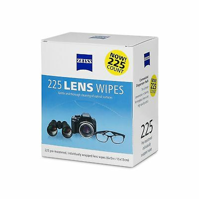 Zeiss Pre-Moistened Lens Cleaning Wipes 225 Pack Gentle and Thorough Cleaning