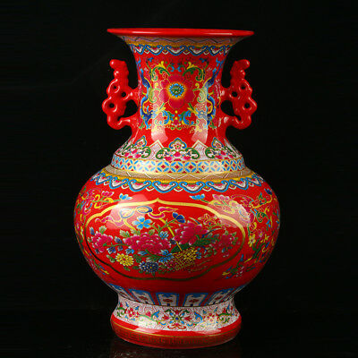 China Pastel Porcelain Hand Painted Vase Mark As The Qianlong R1077