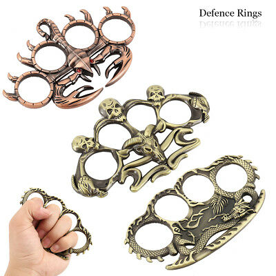 Fingers Ring Skull Shaped Rings Boxing Tools Self Defense Emergency *UK SELLER*.