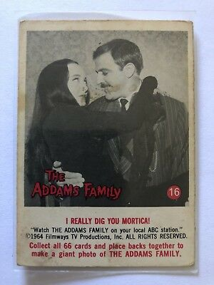 The Addams Family 1964 Filmways Card #16 I Really Dig You Mortica!