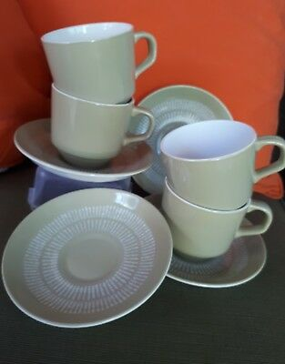 crown lynn EGMONT pattern no 126 cup & saucer x 4 New Zealand  collectible