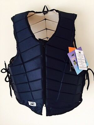 ADULT SMALL  BRAND NEW HORSE RIDING BODY PROTECTOR.Navy