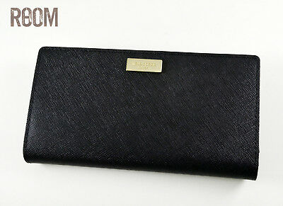 NWT kate spade new york Stacy Long Wallet Laurel Way Leather Black