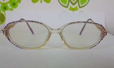Vintage Ladies Spectacles In Case Gold/Purple Kitsch Speckled Retro Secretary(5)