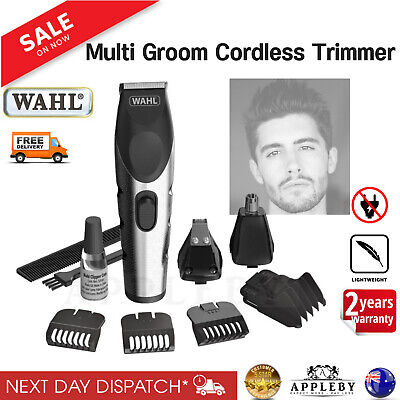 Wahl Cordless Grooming Set Hair Clippers Beard Nose Ear Trimmer Rechargeable