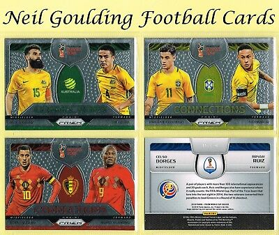 Panini PRIZM World Cup 2018 ☆☆ CONNECTIONS ☆☆ Football Insert Cards #1 to #20