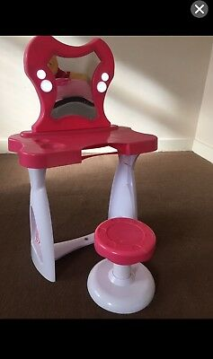Girls Dressing Table Princess Mirror Stool Pretend Role PlaySet  Toy