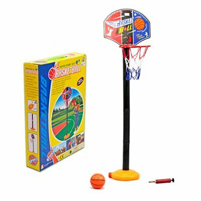 Boys Adjustable Basketball Play Set Net Hoop Ball Pump Garden Sport Toy UK