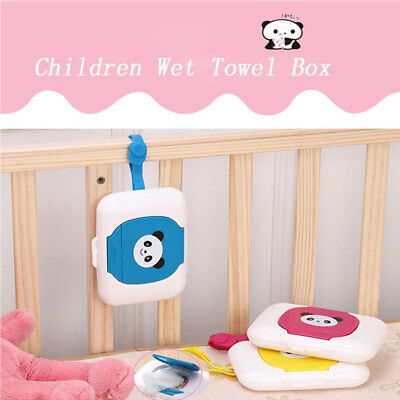 Baby Travel Wipe Case Wet Wipes Box Dispenser Box Storage Lovely Bear Holder