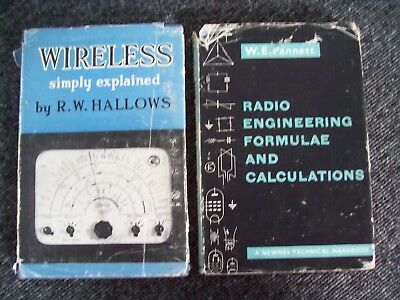 Old Books Wireless Simply Explained 1949 + Radio Engineering 1959 1st editions