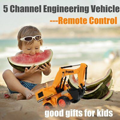 Wireless Stunt Remote Control 5 Channel Engineering Vehicle Electric Excavator G