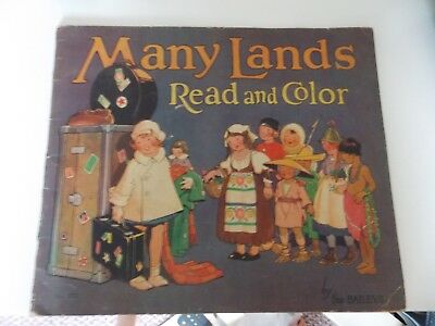 Many Lands Read & Color by the Baileys (SC 1934) teaches other cultures
