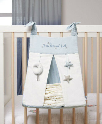 Mamas & Papas Little Forest Blue & White Nappy Holder Stacker