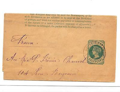 TRINIDAD 1893 POSTAL STATIONARY  ½d GREEN WRAPPER. PORT OF SPAIN CDS