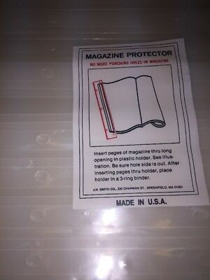 Magazine Holders Protectors for 3 Ring Binder Set Of 24 New