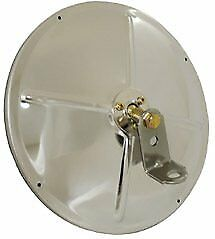 """Grote 16033 Convex Mirror 8.5"""" Round Stainless Steel with Center-Mount Ball-Stud"""