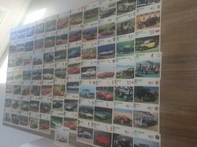 Vintage Lot Of 81 Auto Car Cards In Mint Condition With No Wear