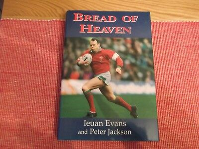 rugby union book,BREAD OF HEAVEN,AUTOBIOGRAPHY,SIGNED BY IEUAN EVANS