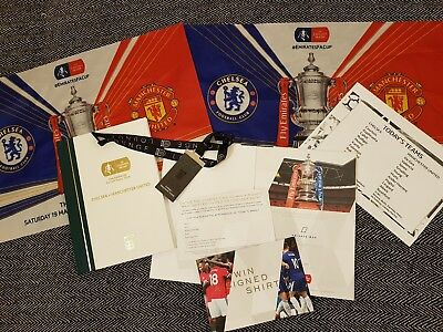 FA CUP FINAL HARDBACK PROGRAMME CHELSEA VS MANCHESTER UTD with VIP lanyard!
