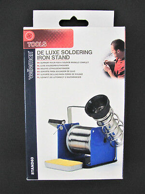 1x Deluxe Soldering Iron Stand with Solder Reel/Spool Holder - Velleman STAND60