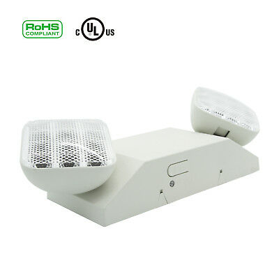 4 Pack LED Emergency Light Exit Lighting Fixture IP30 Twin Square Head 3.6V